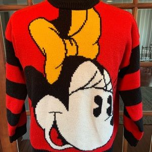 Vintage 1980's Disney Store Minnie Mouse Sweater